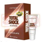 Gel Vibrador Total Shock Comestible Chocolate