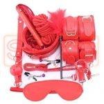 Kit Rojo Bondage 10 Piezas